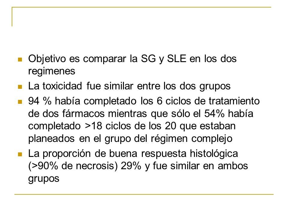 Objetivo es comparar la SG y SLE en los dos regimenes