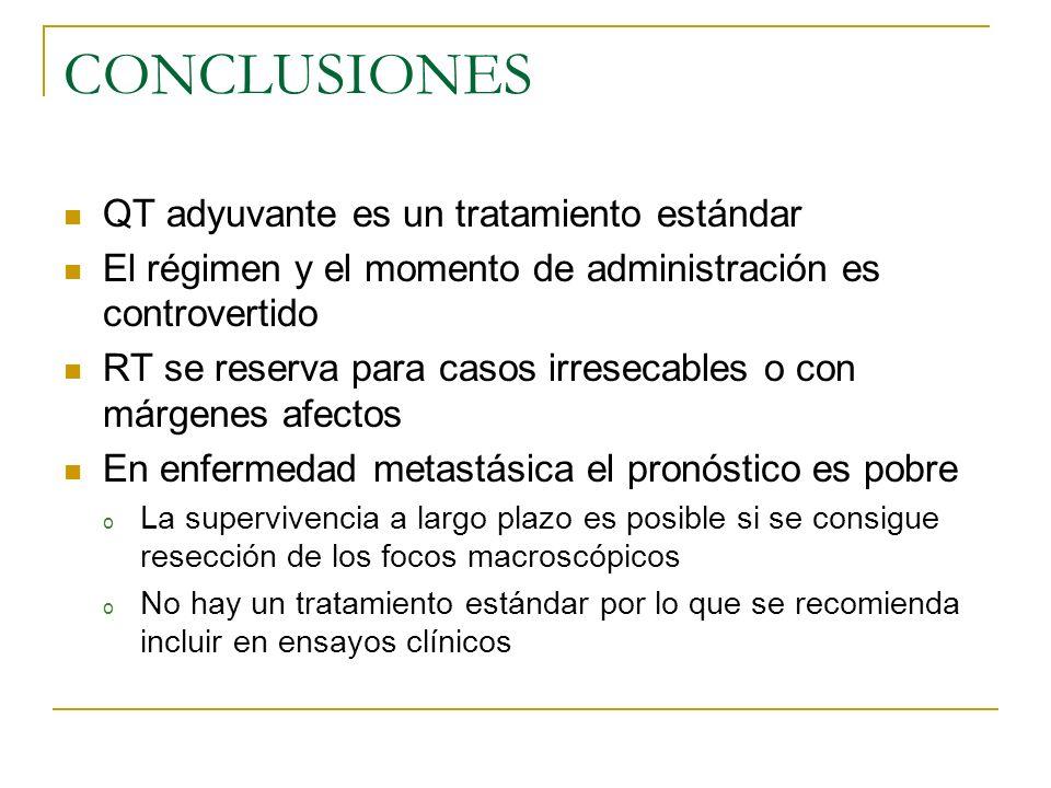 CONCLUSIONES QT adyuvante es un tratamiento estándar