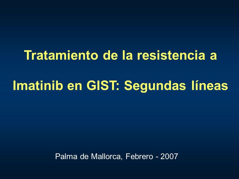 Tratamiento de la resistencia a Imatinib en GIST: Segundas líneas