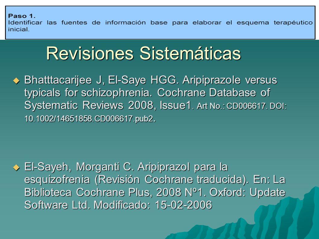 Revisiones Sistemáticas