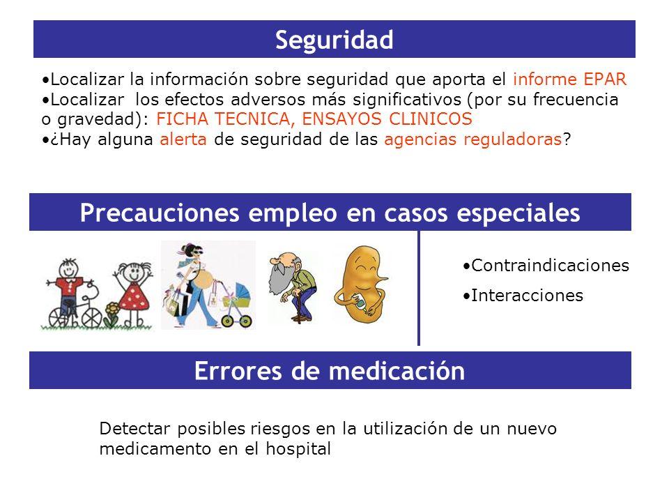 Precauciones empleo en casos especiales
