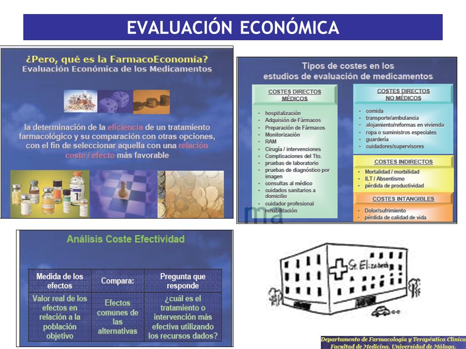 EVALUACIÓN ECONÓMICA Fuentes propias de nuestros centros, nº pacientes, etc..