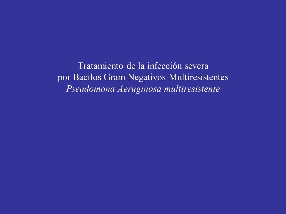 Tratamiento de la infección severa por Bacilos Gram Negativos Multiresistentes Pseudomona Aeruginosa multiresistente