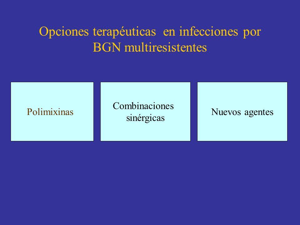 Opciones terapéuticas en infecciones por BGN multiresistentes