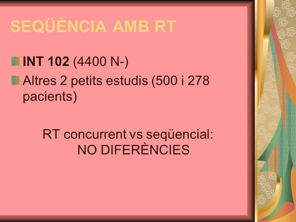 RT concurrent vs seqüencial: NO DIFERÈNCIES