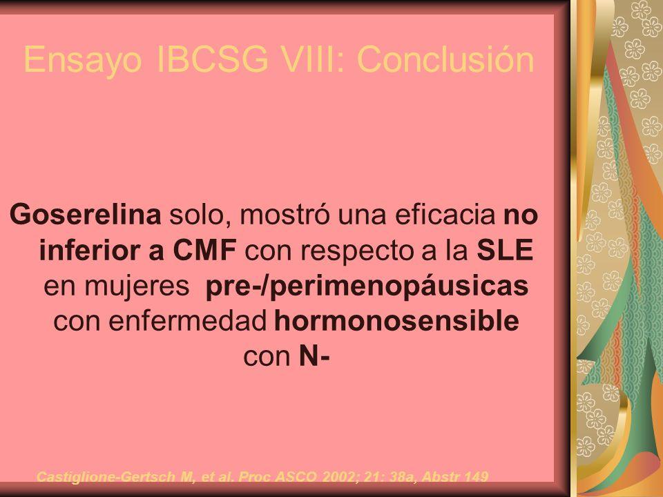 Ensayo IBCSG VIII: Conclusión