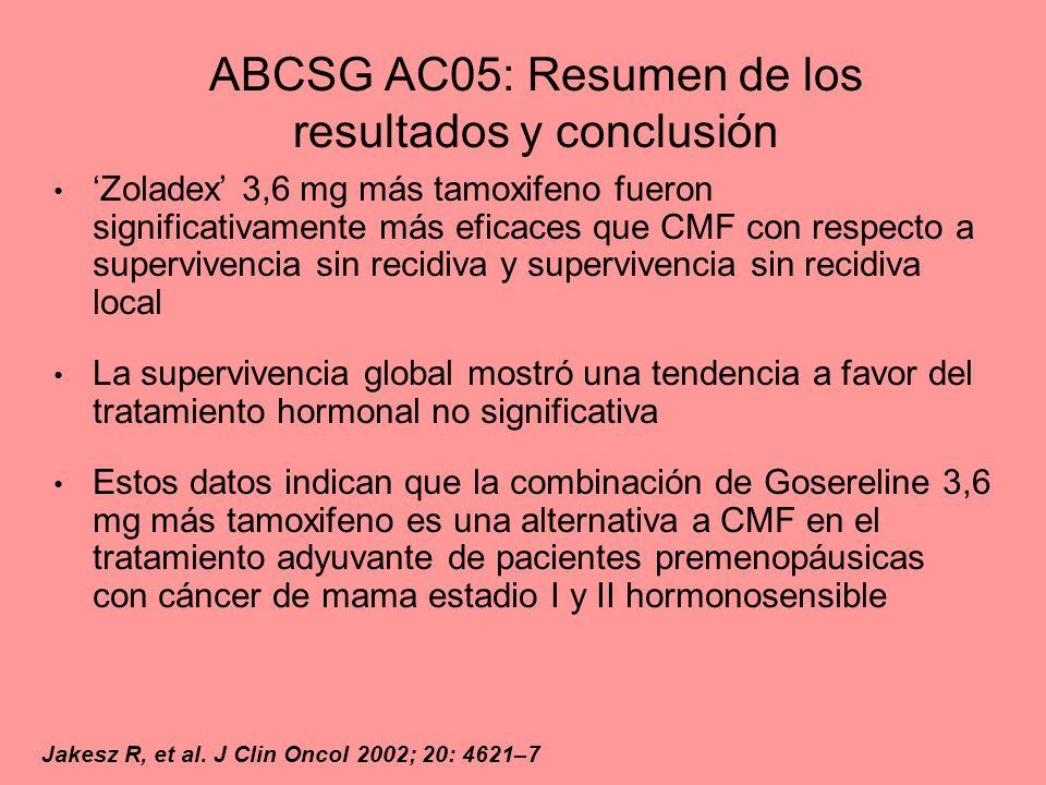 ABCSG AC05: Resumen de los resultados y conclusión
