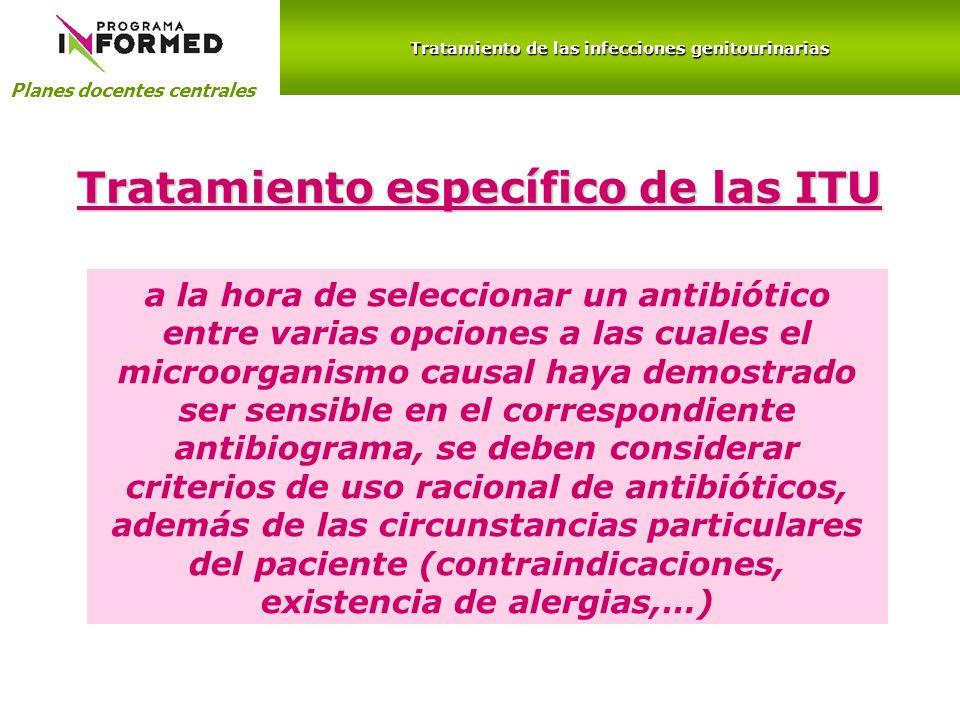 Tratamiento específico de las ITU