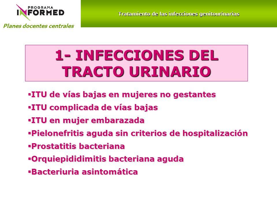 1- INFECCIONES DEL TRACTO URINARIO
