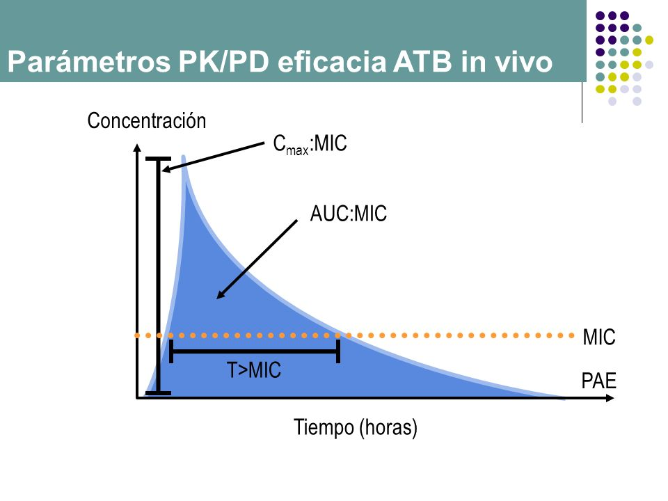 Parámetros PK/PD eficacia ATB in vivo