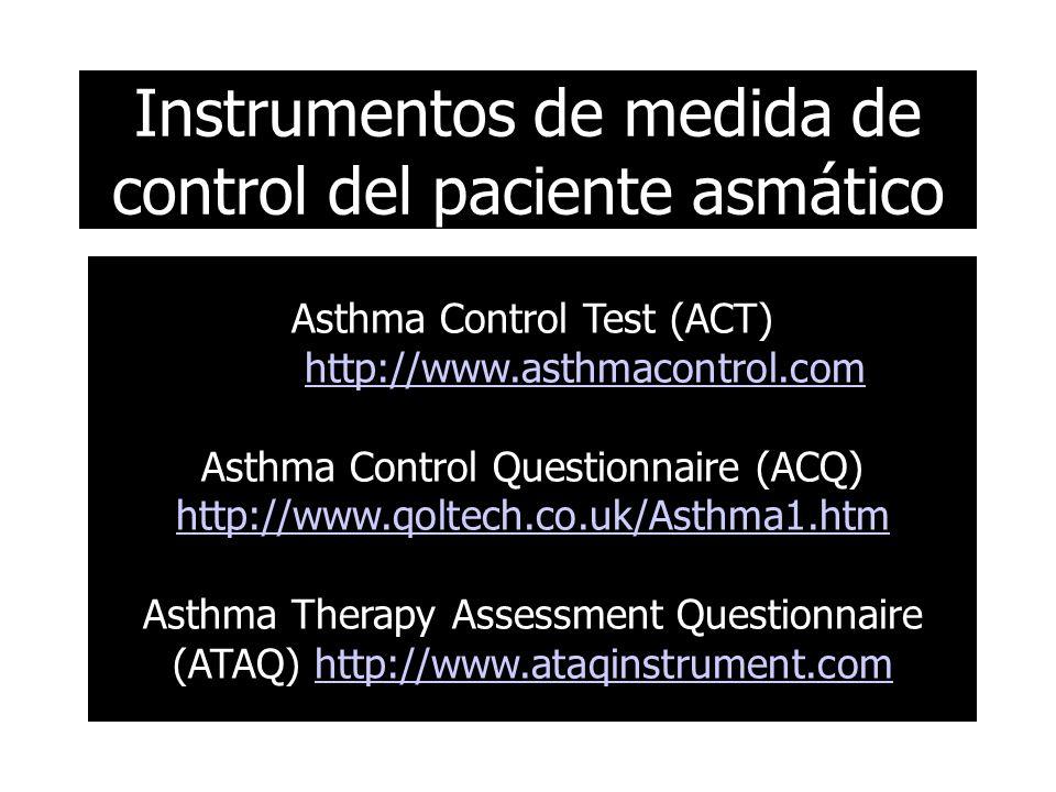 Instrumentos de medida de control del paciente asmático