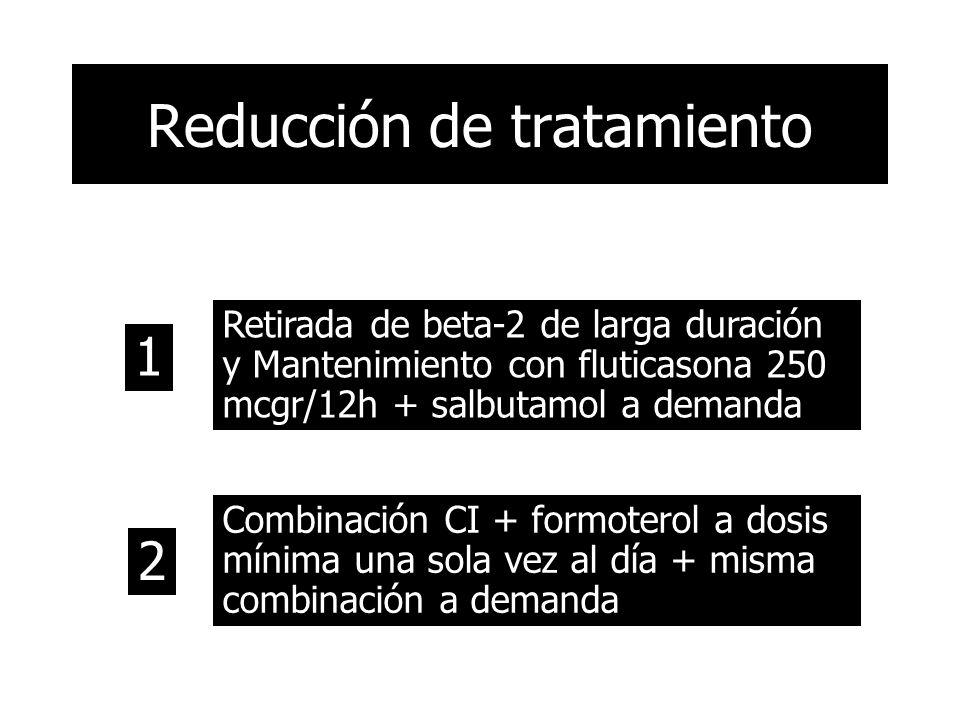 Reducción de tratamiento