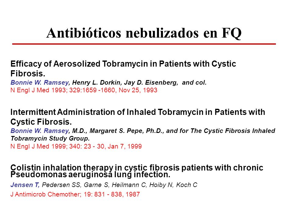 Antibióticos nebulizados en FQ
