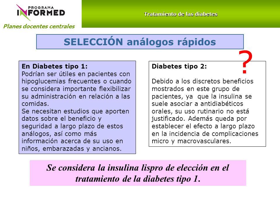 Tratamiento de las diabetes SELECCIÓN análogos rápidos