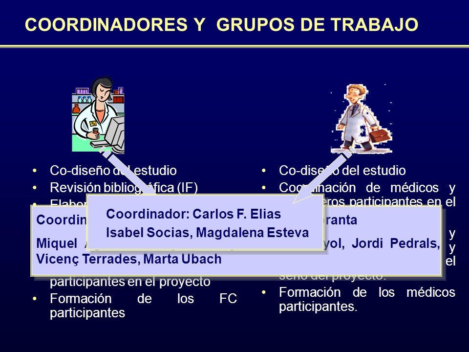 COORDINADORES Y GRUPOS DE TRABAJO