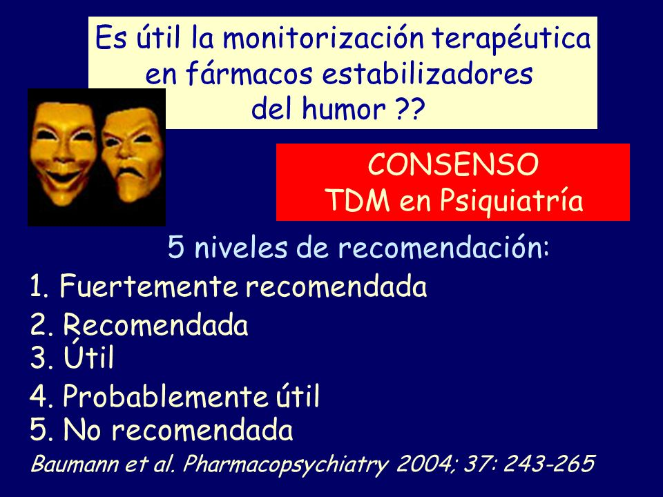 Es útil la monitorización terapéutica en fármacos estabilizadores