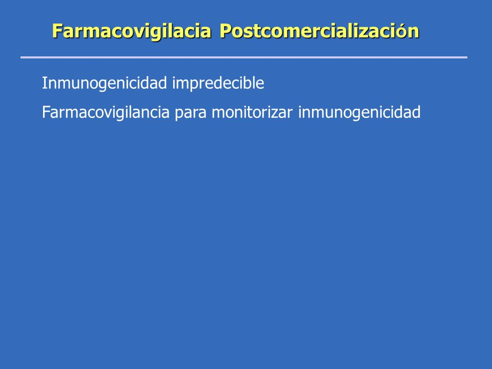 Farmacovigilacia Postcomercialización
