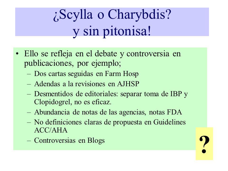 ¿Scylla o Charybdis y sin pitonisa!