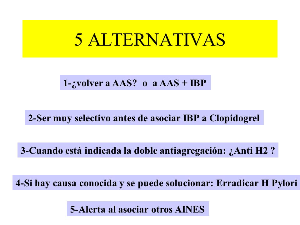 5 ALTERNATIVAS 1-¿volver a AAS o a AAS + IBP