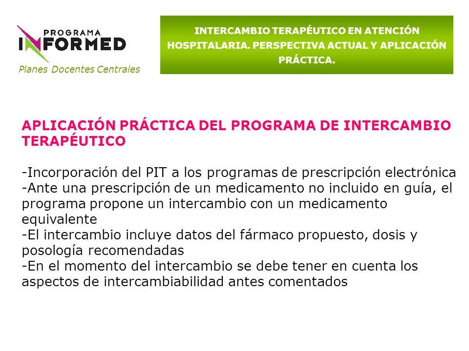 APLICACIÓN PRÁCTICA DEL PROGRAMA DE INTERCAMBIO TERAPÉUTICO