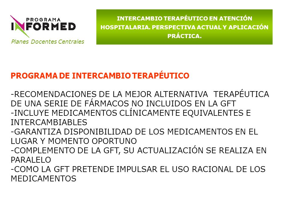 PROGRAMA DE INTERCAMBIO TERAPÉUTICO