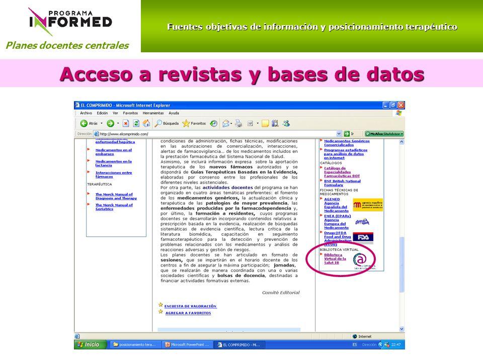 Acceso a revistas y bases de datos