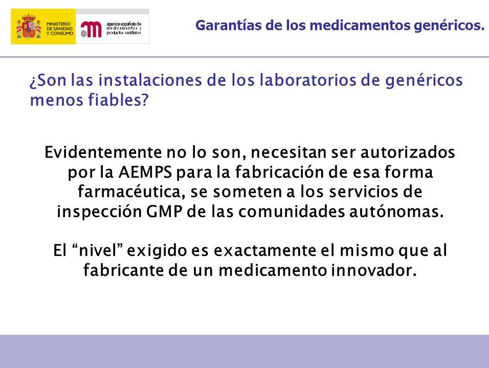 ¿Son las instalaciones de los laboratorios de genéricos menos fiables