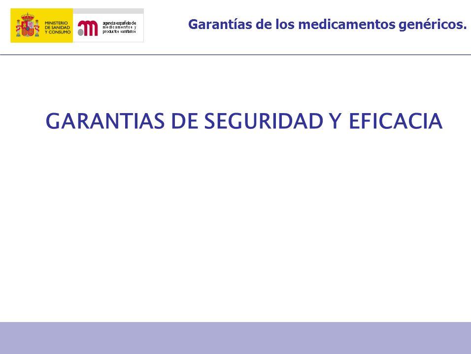 GARANTIAS DE SEGURIDAD Y EFICACIA