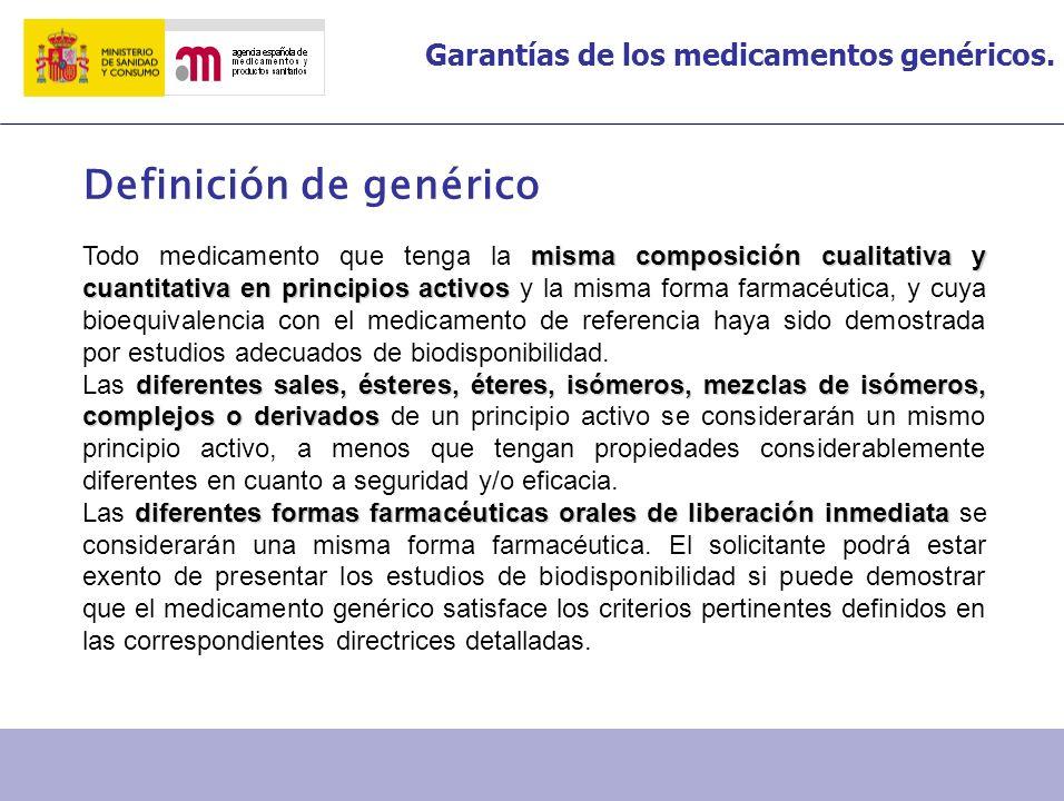 Definición de genérico