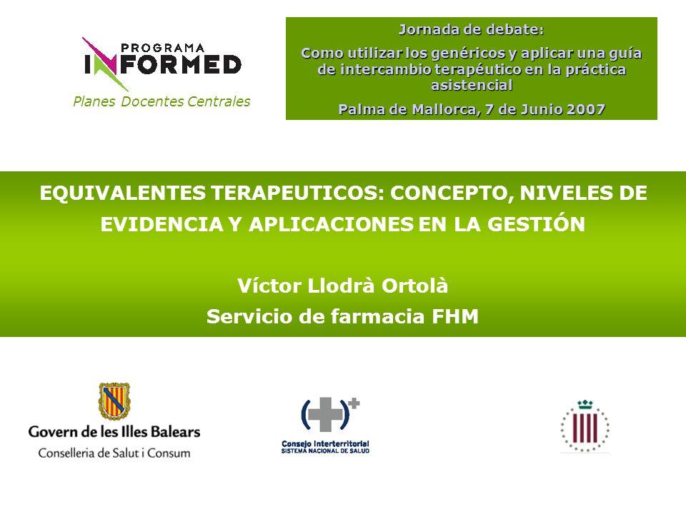 Palma de Mallorca, 7 de Junio 2007 Servicio de farmacia FHM