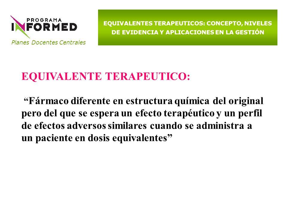 EQUIVALENTE TERAPEUTICO: