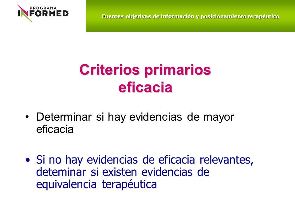 Criterios primarios eficacia