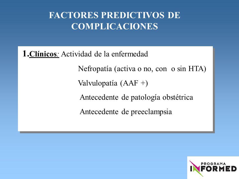 FACTORES PREDICTIVOS DE COMPLICACIONES