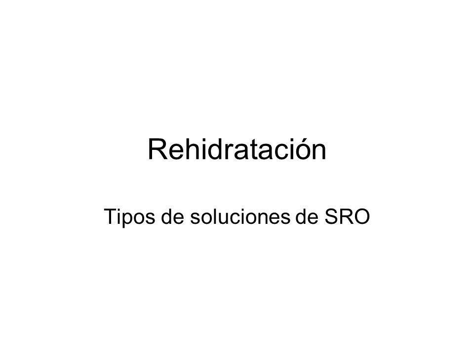 Tipos de soluciones de SRO