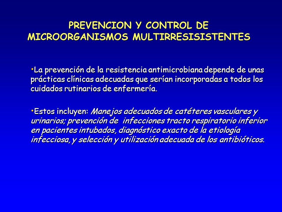 PREVENCION Y CONTROL DE MICROORGANISMOS MULTIRRESISISTENTES