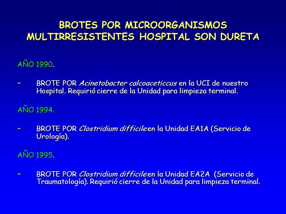 BROTES POR MICROORGANISMOS MULTIRRESISTENTES HOSPITAL SON DURETA