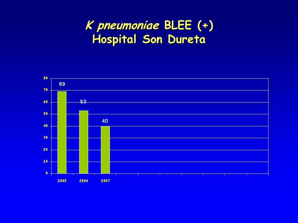 K pneumoniae BLEE (+) Hospital Son Dureta