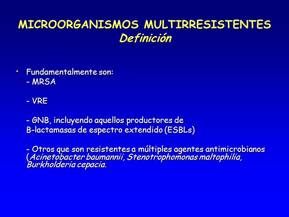 MICROORGANISMOS MULTIRRESISTENTES Definición