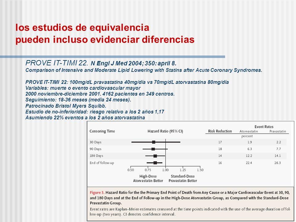 los estudios de equivalencia pueden incluso evidenciar diferencias