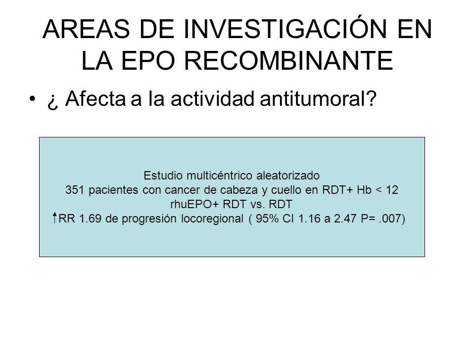 AREAS DE INVESTIGACIÓN EN LA EPO RECOMBINANTE