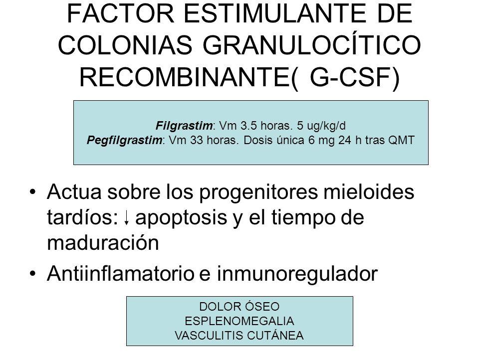 FACTOR ESTIMULANTE DE COLONIAS GRANULOCÍTICO RECOMBINANTE( G-CSF)
