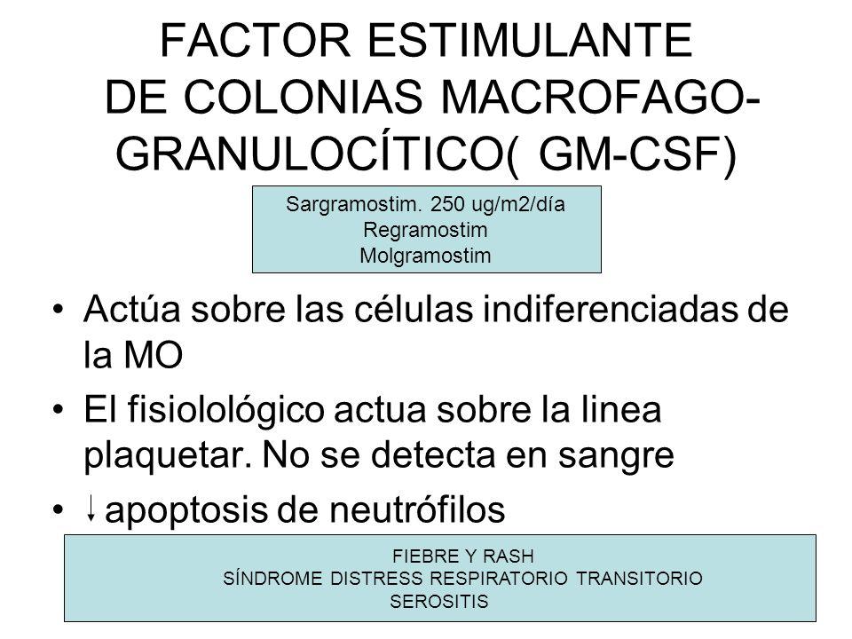 FACTOR ESTIMULANTE DE COLONIAS MACROFAGO-GRANULOCÍTICO( GM-CSF)
