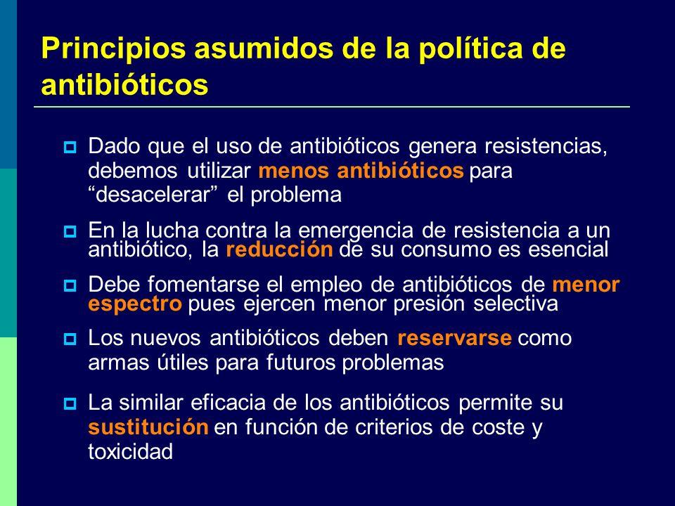 Principios asumidos de la política de antibióticos