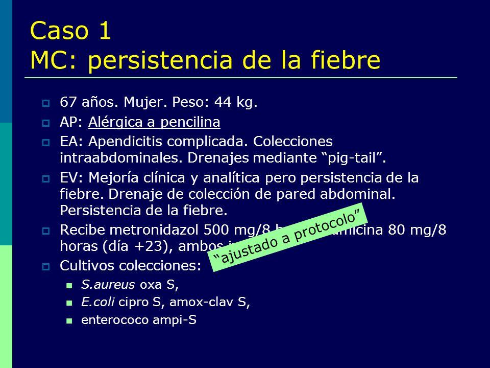 Caso 1 MC: persistencia de la fiebre