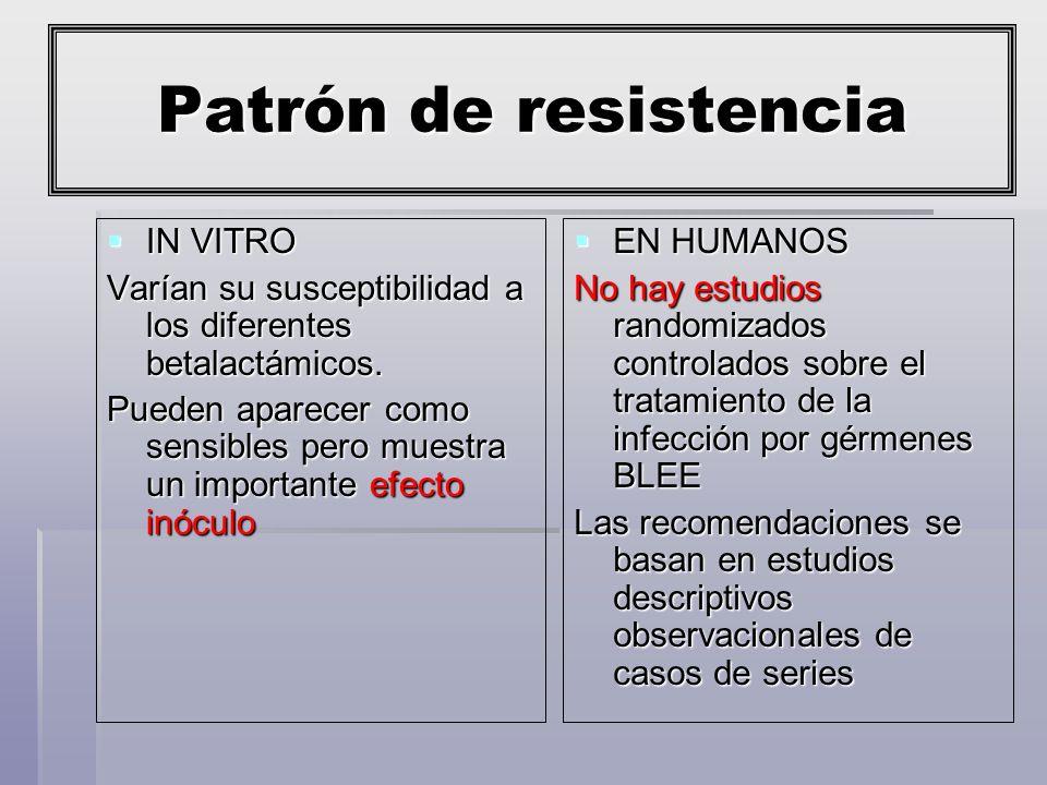 Patrón de resistencia IN VITRO