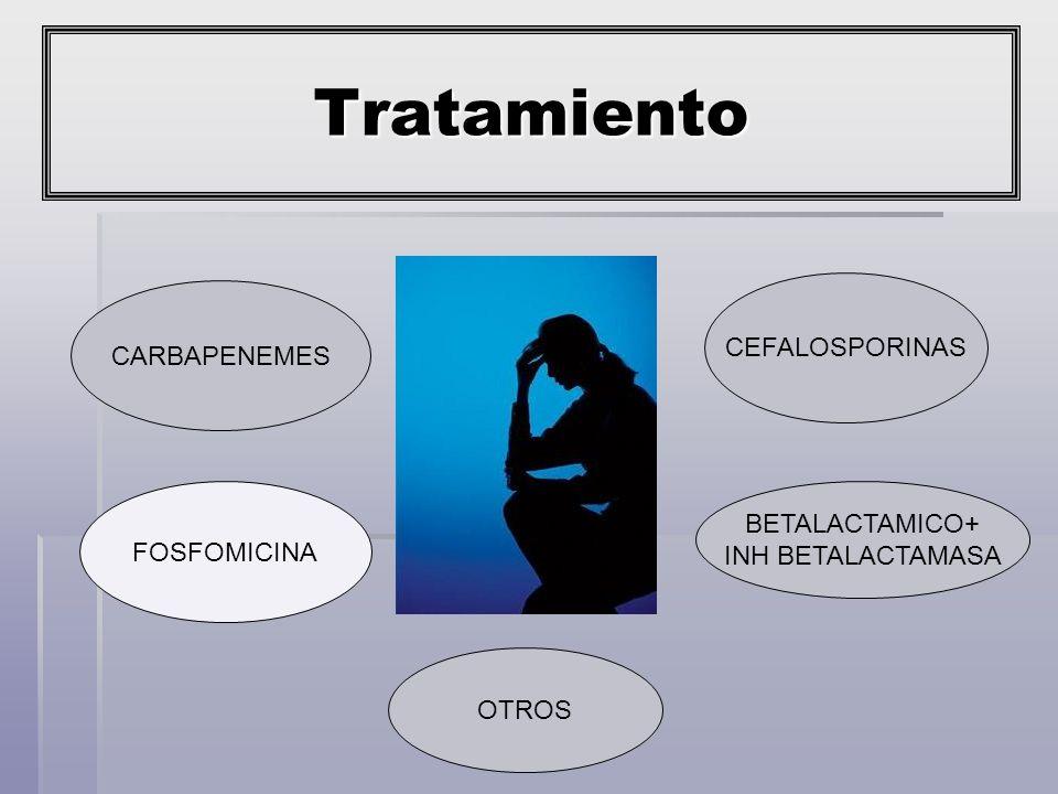 Tratamiento CEFALOSPORINAS CARBAPENEMES BETALACTAMICO+ FOSFOMICINA