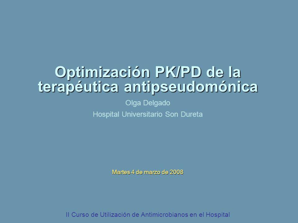 Optimización PK/PD de la terapéutica antipseudomónica