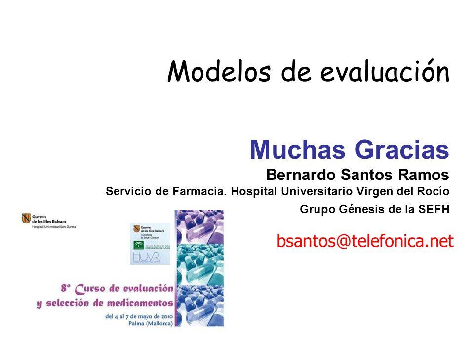 Modelos de evaluación Muchas Gracias bsantos@telefonica.net