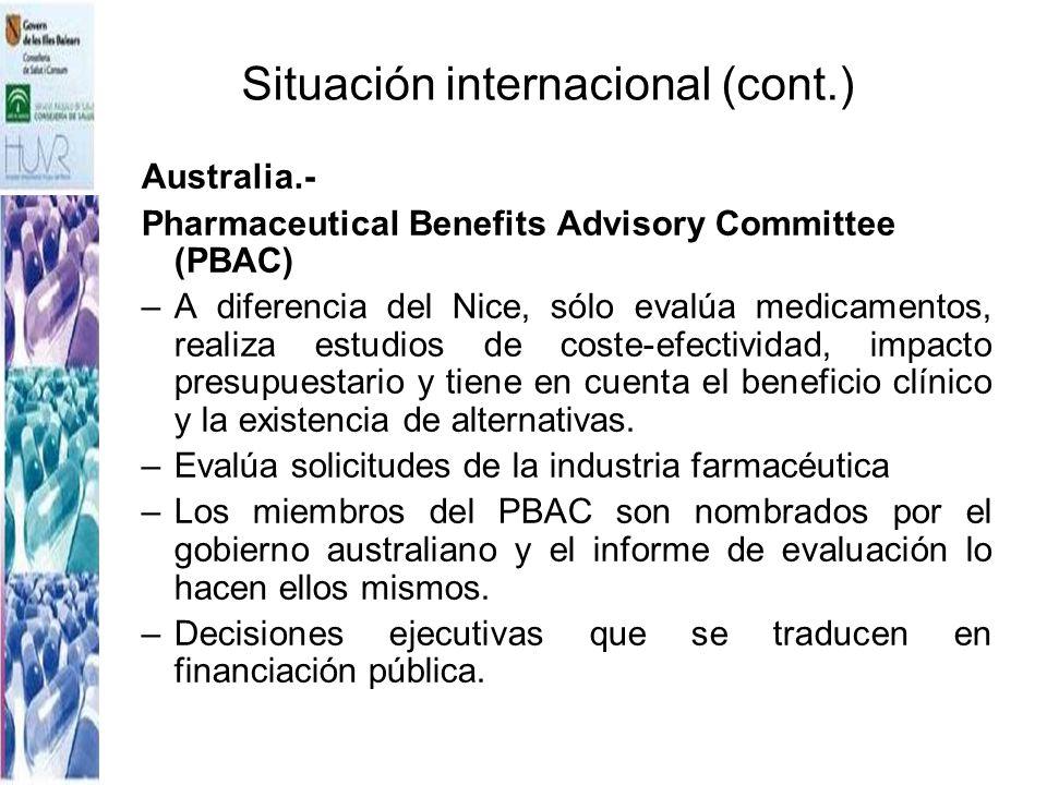 Situación internacional (cont.)