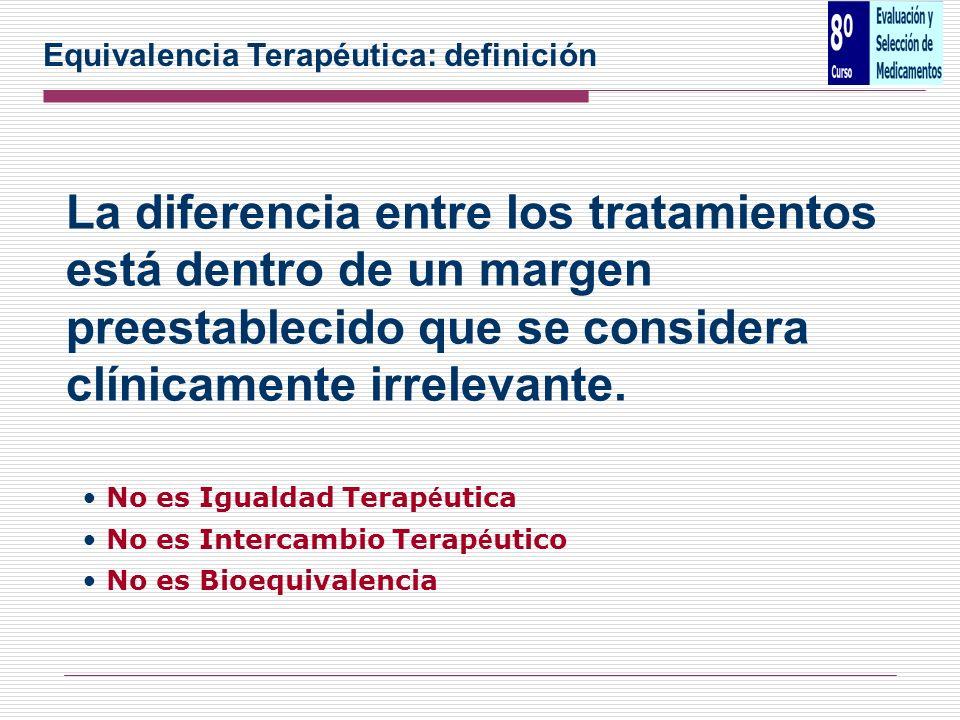 Equivalencia Terapéutica: definición